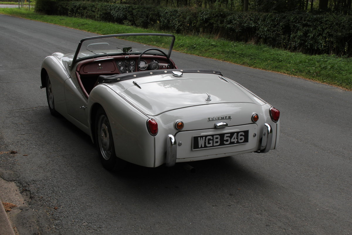 1959 Triumph TR3A, Beautifully aged restoration For Sale (picture 4 of 16)