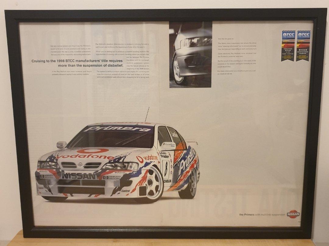 Picture of 1963 Original 1998 Nissan Primera Framed Advert
