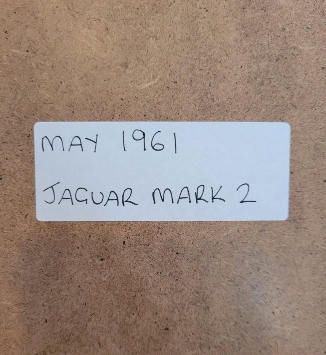 1964 Original 1961 Jaguar Mark 2 Framed Advert For Sale (picture 2 of 3)