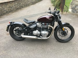 Picture of 2017(17) Triumph Bonneville Bobber - 1296 miles - SOLD For Sale