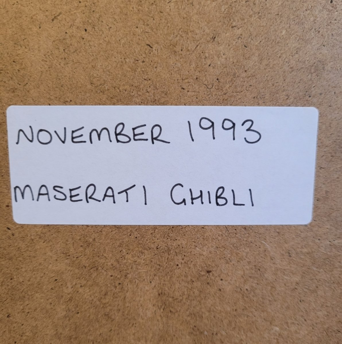 1973 Original 1993 Maserati Ghibli Framed Advert For Sale (picture 2 of 3)