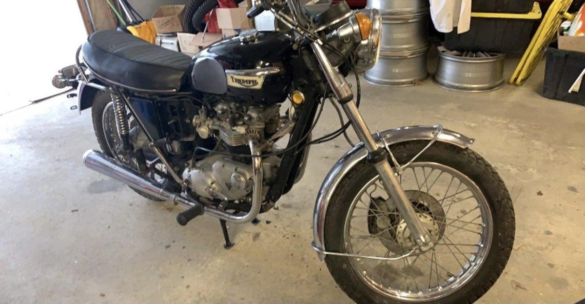 Triumph Tigerville 750cc 1973 restoration Project For Sale (picture 7 of 12)