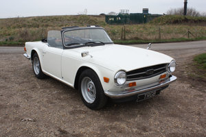 Picture of TWO OWNER 1973 TR6 IN TRIUMPH WHITE WITH BLACK TRIM. SOLD