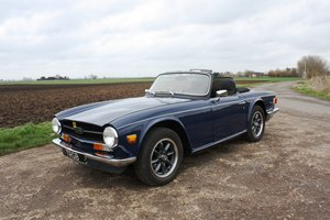 Picture of TR6 1972 SAPPHIRE BLUE WITH BLACK INTERIOR SOLD