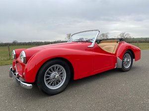 Picture of 1955 Triumph TR2. Red with tan interior and a black hood For Sale