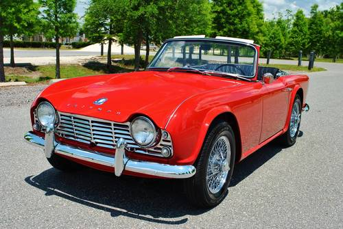 1962 Triumph TR-4 Roadster 4-Speed Rotisserie Restored For Sale (picture 1 of 6)