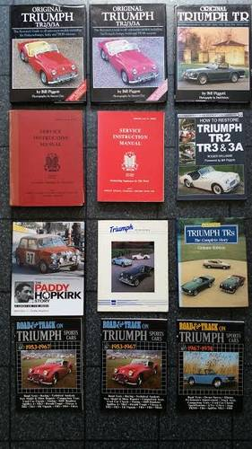 Triumph TR Books & Workshop Manuals For Sale... For Sale (picture 1 of 1)