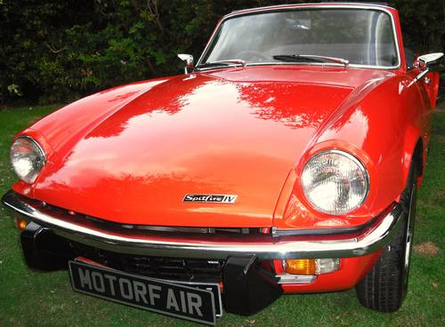 1972 TRIUMPH SPITFIRE MK4 1300cc COMPREHENSIVE RESTORATION For Sale (picture 1 of 6)
