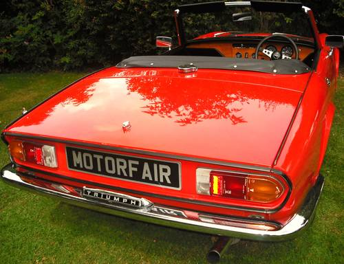 1972 TRIUMPH SPITFIRE MK4 1300cc COMPREHENSIVE RESTORATION For Sale (picture 3 of 6)