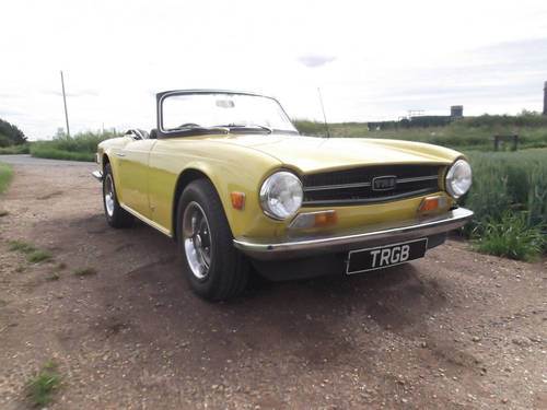 1974 FUEL INJECTED TR6 FOR SALE SOLD (picture 5 of 6)