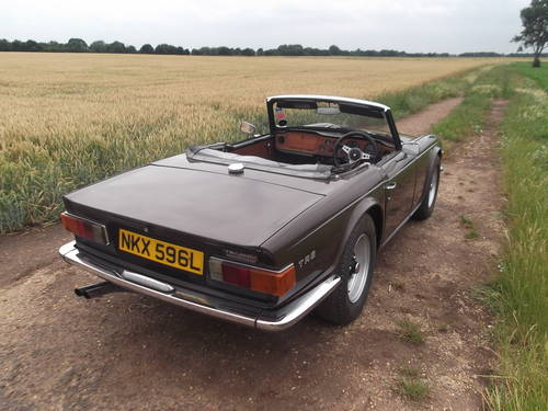 1972 TR6 GENUINE UK CAR WITH OVERDRIVE SOLD (picture 5 of 6)