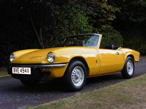 1980 Triumph Spitfire Only 3,032 Genuine Miles from New Unique For Sale (picture 2 of 6)