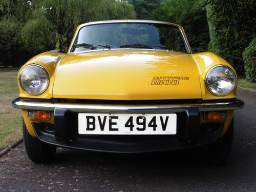 1980 Triumph Spitfire Only 3,032 Genuine Miles from New Unique For Sale (picture 3 of 6)