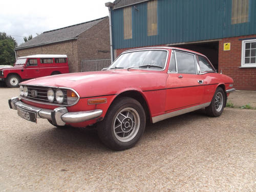1976 TRIUMPH STAG PROJECT FOR SALE SOLD (picture 1 of 6)