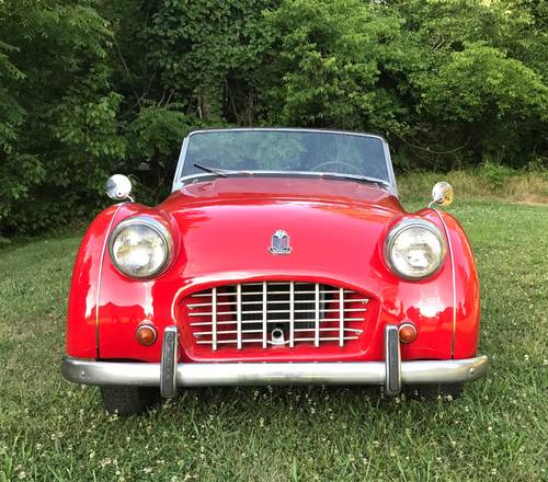 1956 Triumph TR3 Overdrive Small Mouth Very Presentable- SOLD (picture 3 of 6)