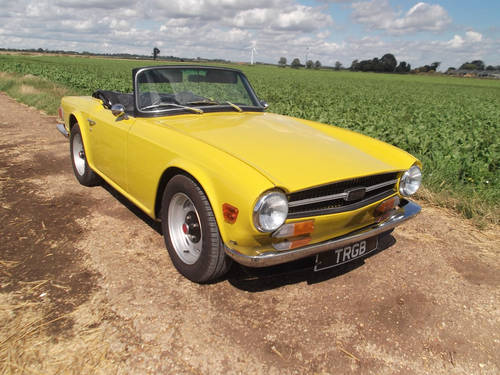 TR6 1971 GENUINE UK 150 BHP CP SERIES MODEL WITH OVER DRIVE. SOLD (picture 1 of 6)
