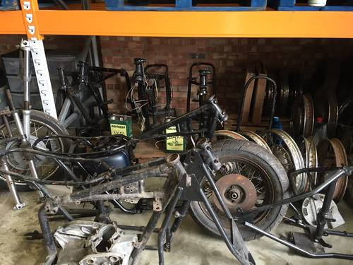 1968 Triumph 650cc Braking T120 And Tr6 Frames Engines Parts For