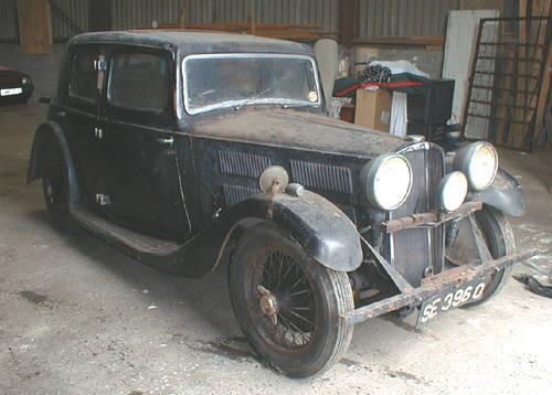 1934 Triumph Gloria totally original barn find SOLD (picture 1 of 5)