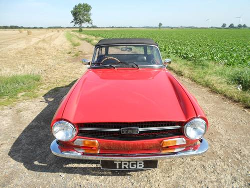 1972 TR6 FOR SALE SOLD (picture 6 of 6)