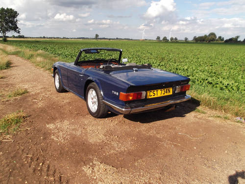 1974 TR6 ORIGINAL FUEL INJECTED CAR WITH OVERDRIVE SOLD (picture 4 of 6)