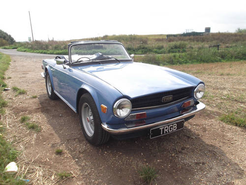 1974 TRIUMPH TR6 FRENCH BLUE WITH OVERDRIVE SOLD (picture 2 of 5)