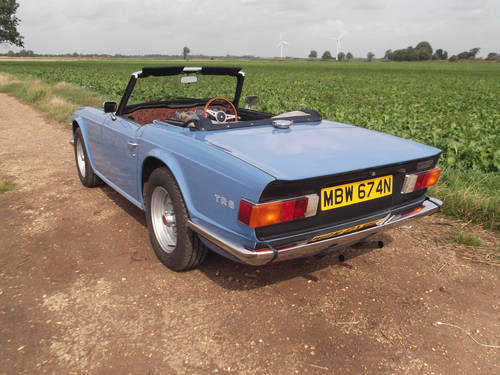 1974 TRIUMPH TR6 FRENCH BLUE WITH OVERDRIVE SOLD (picture 5 of 5)
