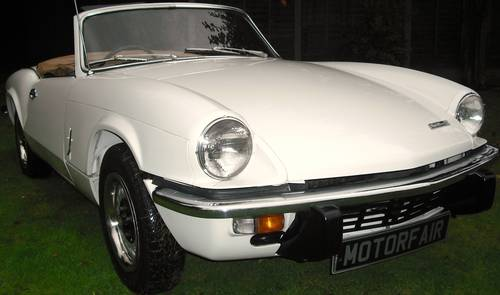 1972 SPITFIRE MK4,EXTENSIVE £16800 BODY OFF RESTORATION For Sale (picture 1 of 6)