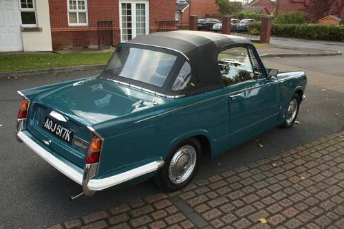 1971 Triumph Herald 13/60 Factory Convertible, Valencia Blue SOLD (picture 3 of 6)