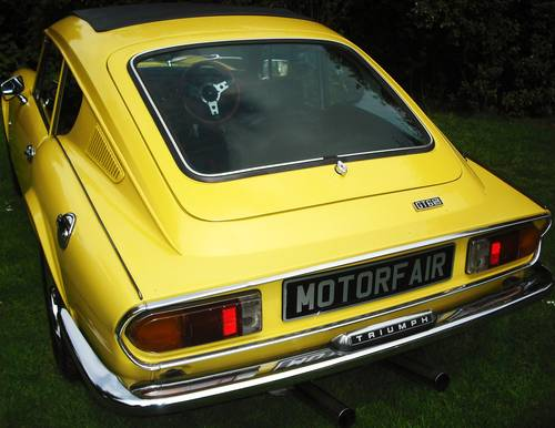 1973 GT6 MK 3,PHOTOGRAPHIC RESTORATION,SUNROOF,LOW MILEAGE, For Sale (picture 3 of 6)