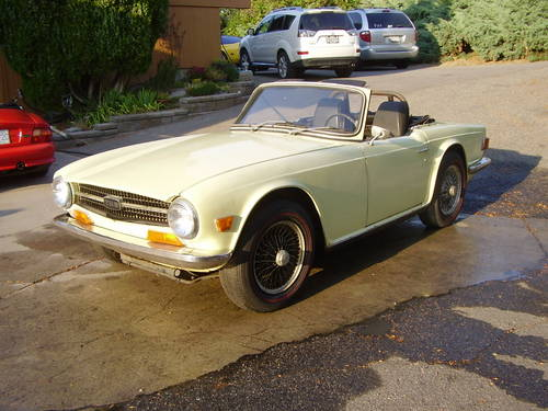 1969 TR6 - one of the first made - no rust!  SOLD (picture 3 of 6)