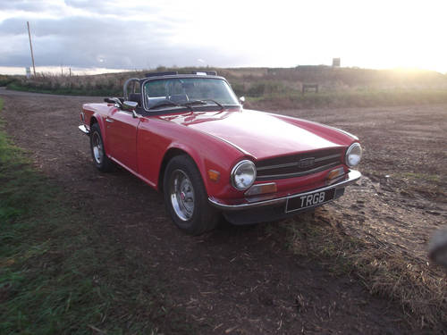TR6 1975. EX AMERICAN IMPORT CONVERTED TO RHD. OVERDRIVE SOLD (picture 1 of 6)