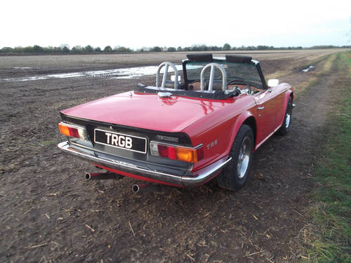 TR6 1975. EX AMERICAN IMPORT CONVERTED TO RHD. OVERDRIVE SOLD (picture 5 of 6)