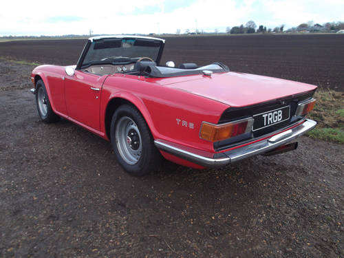 TR6 1974 RED WITH OVERDRIVE. FULL BODY OFF CHASSIS RESTORATI SOLD (picture 4 of 6)