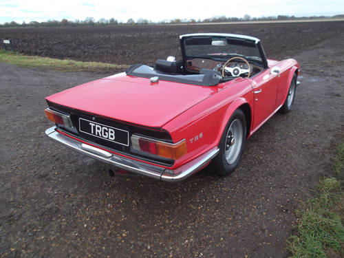 TR6 1974 RED WITH OVERDRIVE. FULL BODY OFF CHASSIS RESTORATI SOLD (picture 5 of 6)