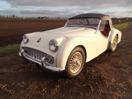 1961 TR3A WITH OVERDRIVE FOR SALE SOLD (picture 1 of 6)