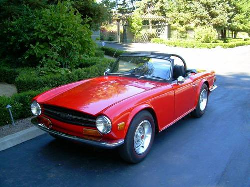 1969 Triumph TR6 with Surrey top For Sale (picture 6 of 6)
