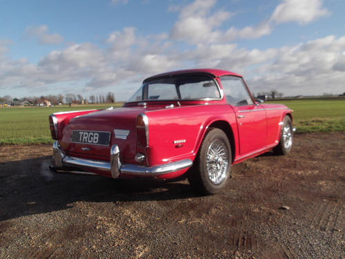 1968 RED TRIUMPH TR5 ORIGINAL UK CAR WITH SURREY TOP SOLD (picture 5 of 6)