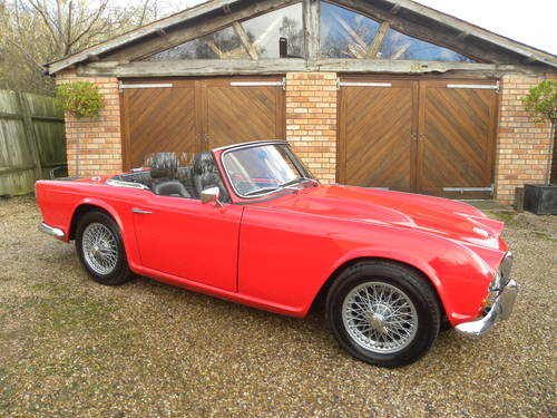 1962 TRIUMPH TR4. 21,000 since total rebuild SOLD (picture 3 of 6)