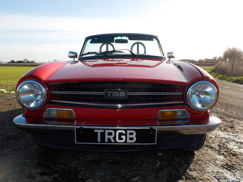 1968 RED TRIUMPH TR5 ORIGINAL UK CAR WITH SURREY TOP SOLD (picture 6 of 6)