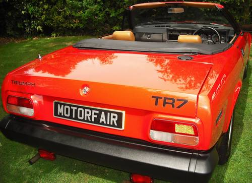1980 TRIUMPH TR7 CONVERTIBLE,1 OWNER,CONCOURS WINNER, For Sale (picture 4 of 6)