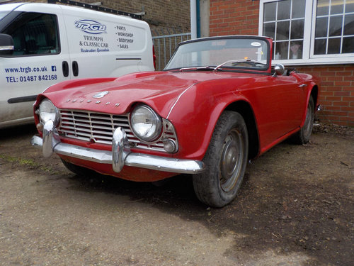 1964 LHD TRIUMPH TR4 PROJECT SOLD (picture 1 of 6)