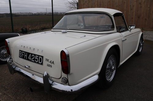 1966 TR4A IRS, Show standard Restoration, Surrey top SOLD (picture 2 of 6)