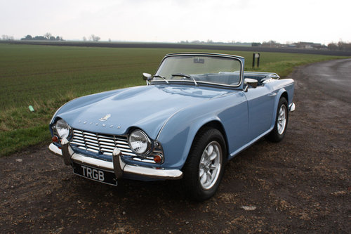 TR4 1964 LIGHT BLUE WITH OVERDRIVE SOLD (picture 1 of 6)