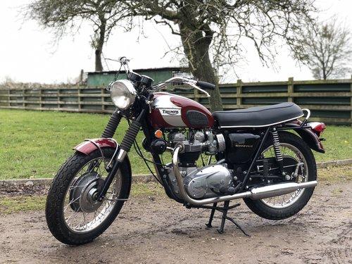 Triumph T120R Bonny 650cc 1970 SOLD (picture 2 of 6)