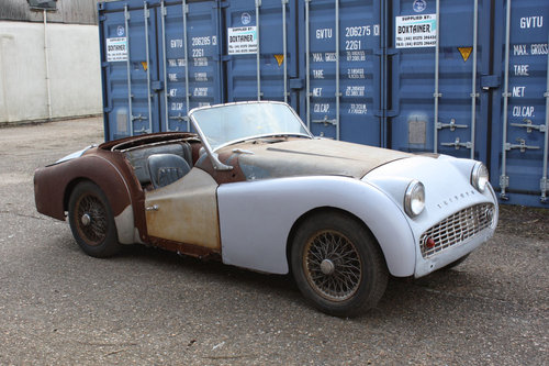 1960 TR3A EX USA IMPORT. CHASSIS NUMBER TS65410-L PROJECT CAR SOLD (picture 1 of 3)