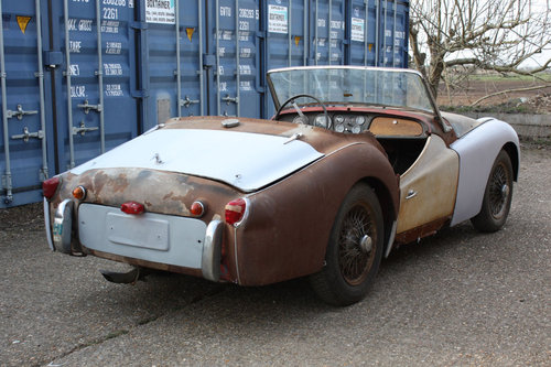 1960 TR3A EX USA IMPORT. CHASSIS NUMBER TS65410-L PROJECT CAR SOLD (picture 2 of 3)