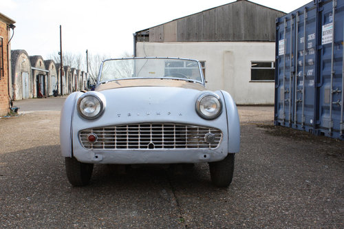 1960 TR3A EX USA IMPORT. CHASSIS NUMBER TS65410-L PROJECT CAR SOLD (picture 3 of 3)