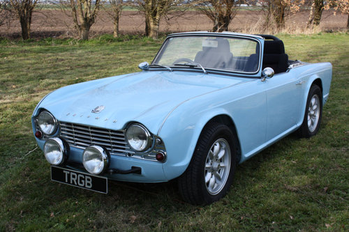 TR4 1963 POWDER BLUE WITH OVERDRIVE SOLD (picture 1 of 6)