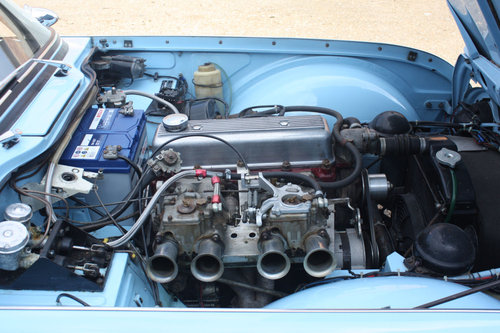 TR4 1963 POWDER BLUE WITH OVERDRIVE SOLD (picture 3 of 6)