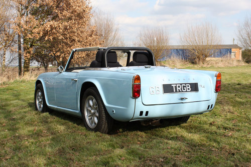 TR4 1963 POWDER BLUE WITH OVERDRIVE SOLD (picture 5 of 6)